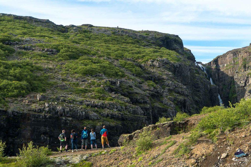 Glymur waterfall Hike Iceland